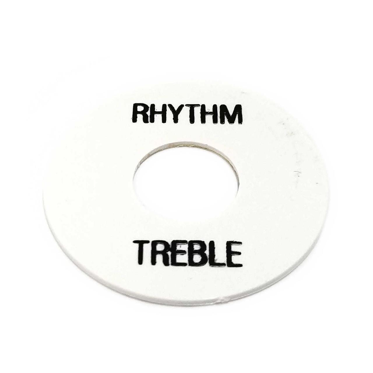 Rhythm/Treble Ring - White /w Black Letters