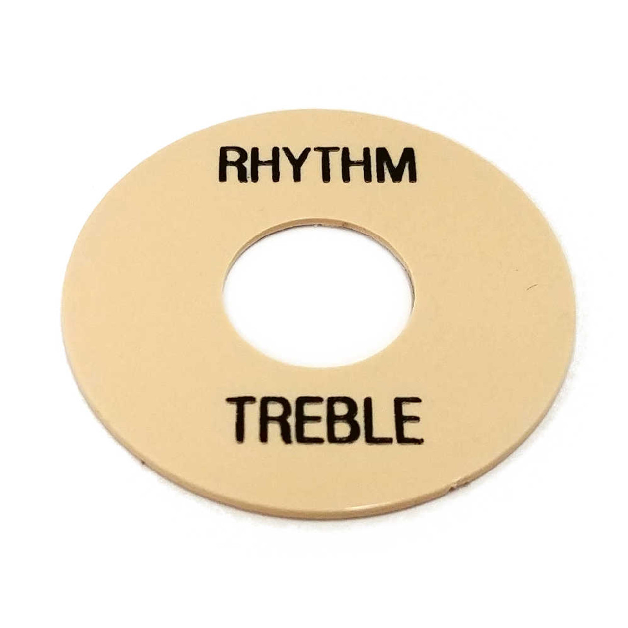 Rhythm/Treble Ring - Cream /w Black Letters
