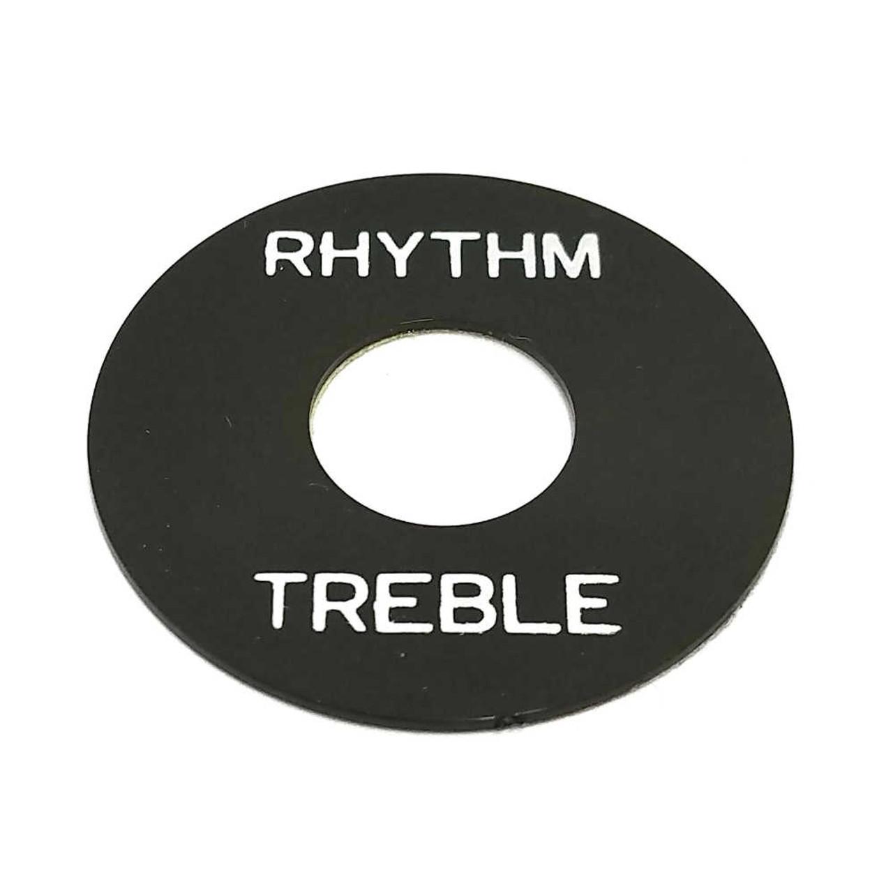 Rhythm/Treble Ring - Black /w White Letters