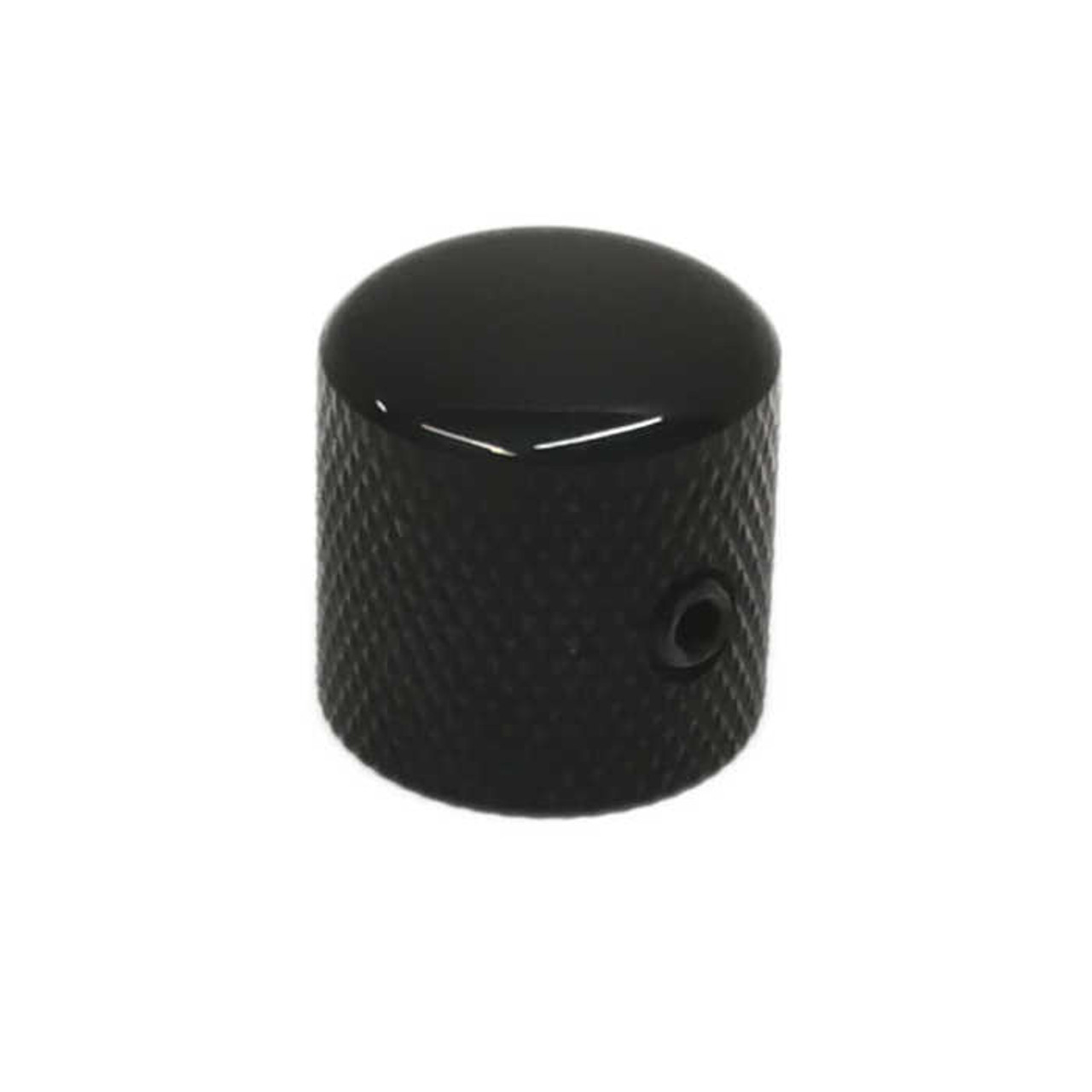 Dome Knob for Solid Shaft - Black