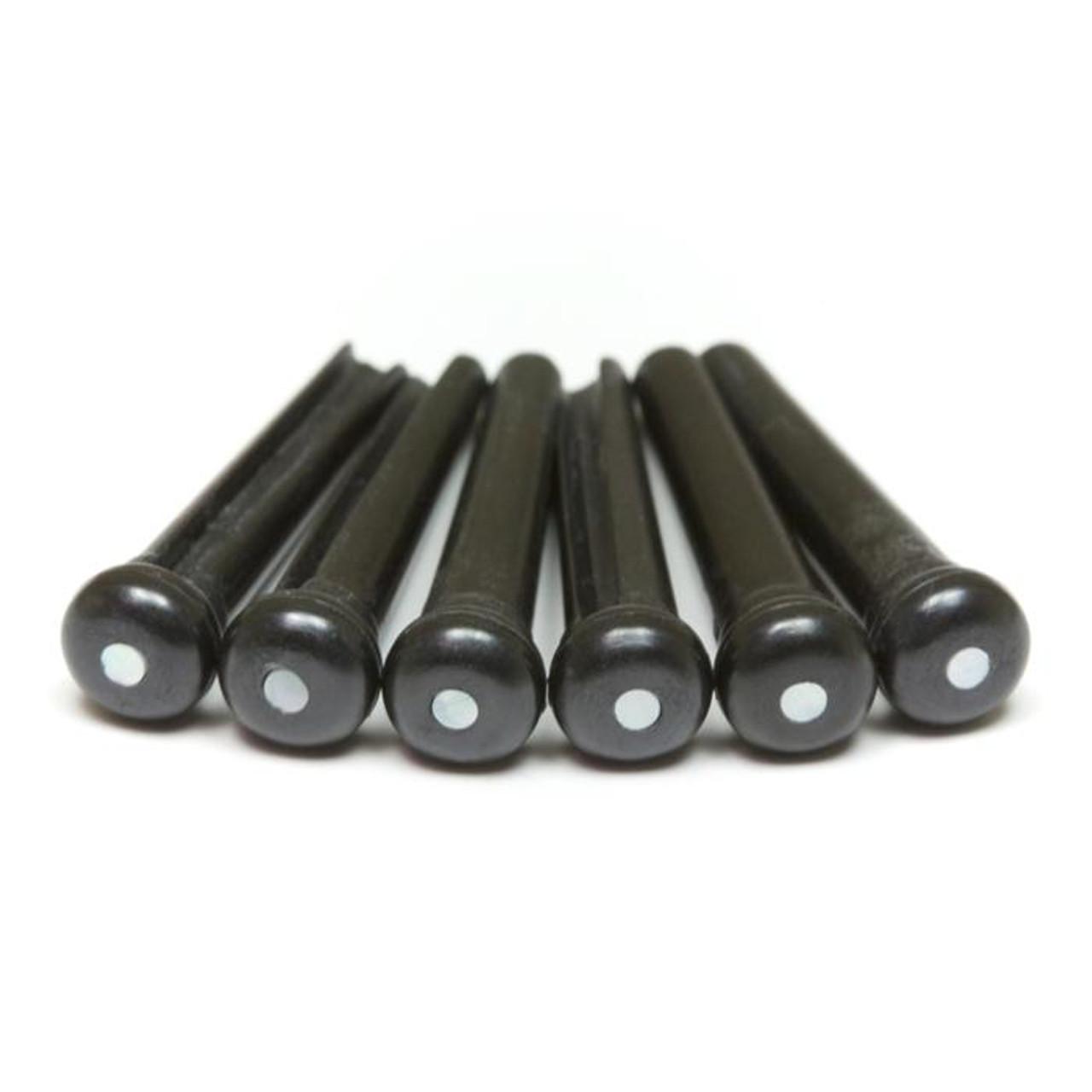 TUSQ Bridge Pins - Black /w Pearl Dots