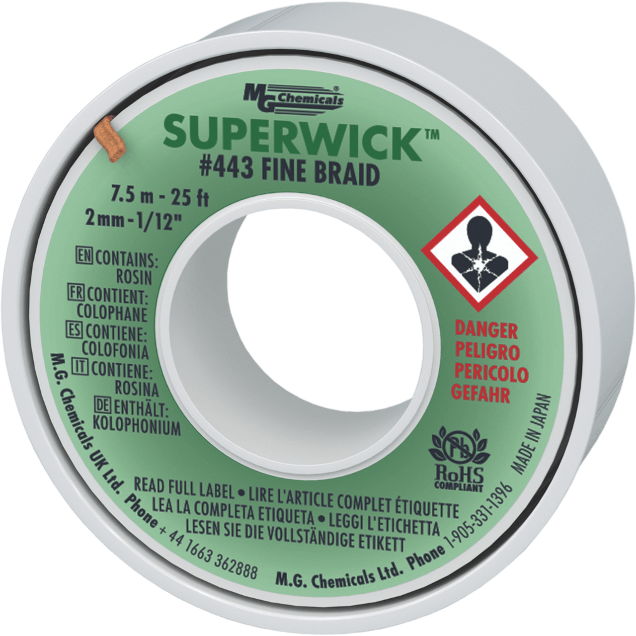 MG Chemicals - Super Wick De-soldering Braid (25')