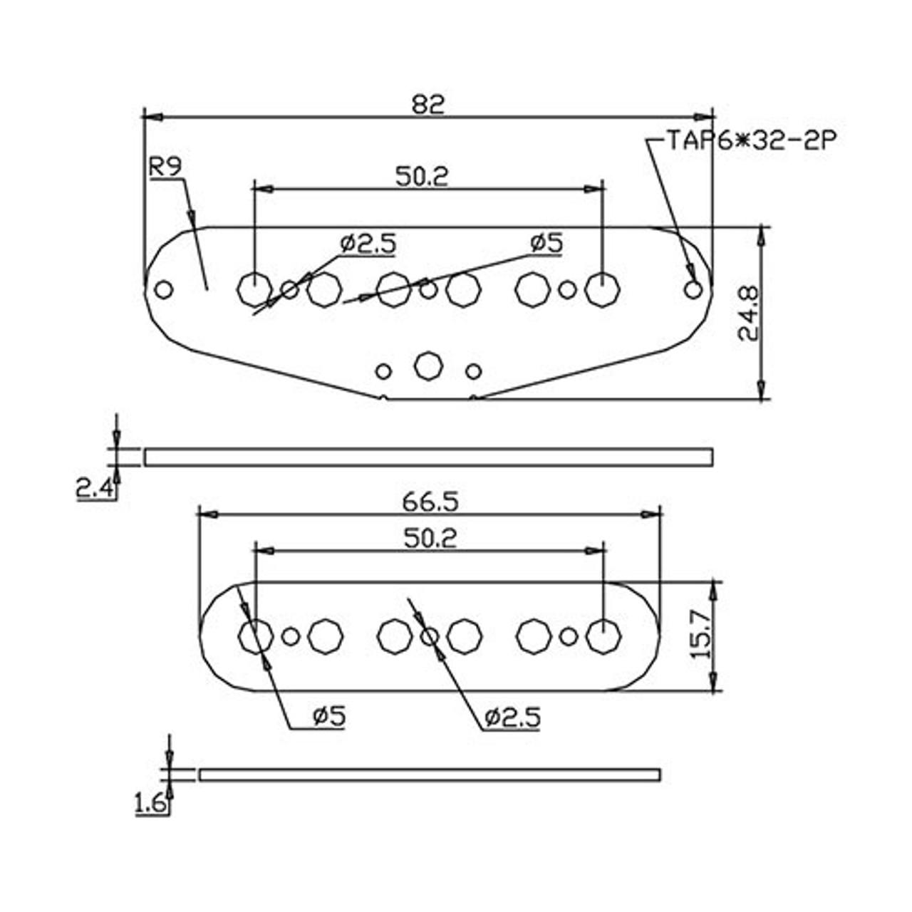 Flatwork Set - Strat 50mm (top and bottom)