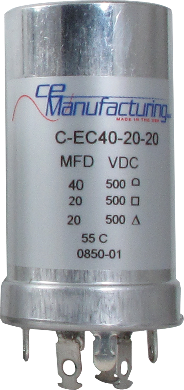 CE Capacitor - Electrolytic, Multi-Section, Can, 40/20/20µF 500V