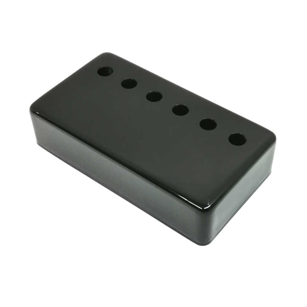Humbucking Pickup Cover - 50mm Black (plated nickel/silver)