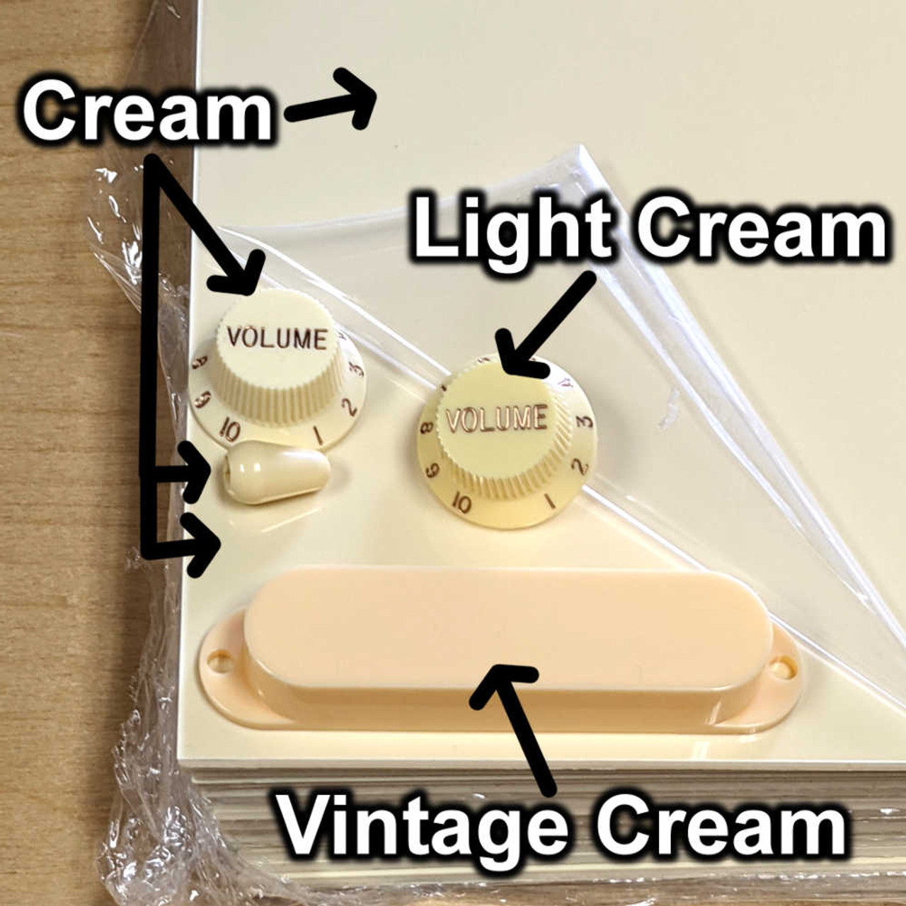 "Pickguard Blank - 3-ply Cream/Black/Cream (11.5"" x 17"")"