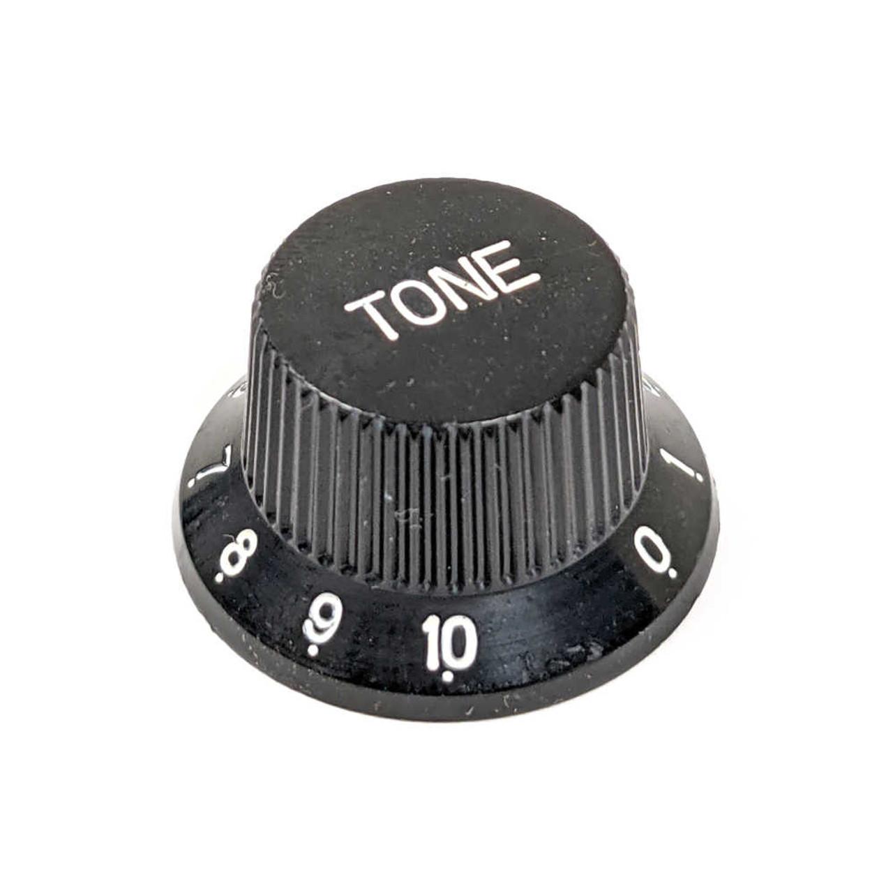 Strat Knob Tone - 18-spline Black (alternate style) CLEARANCE