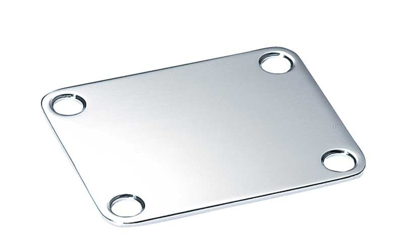 Square Neck Plate - Chrome
