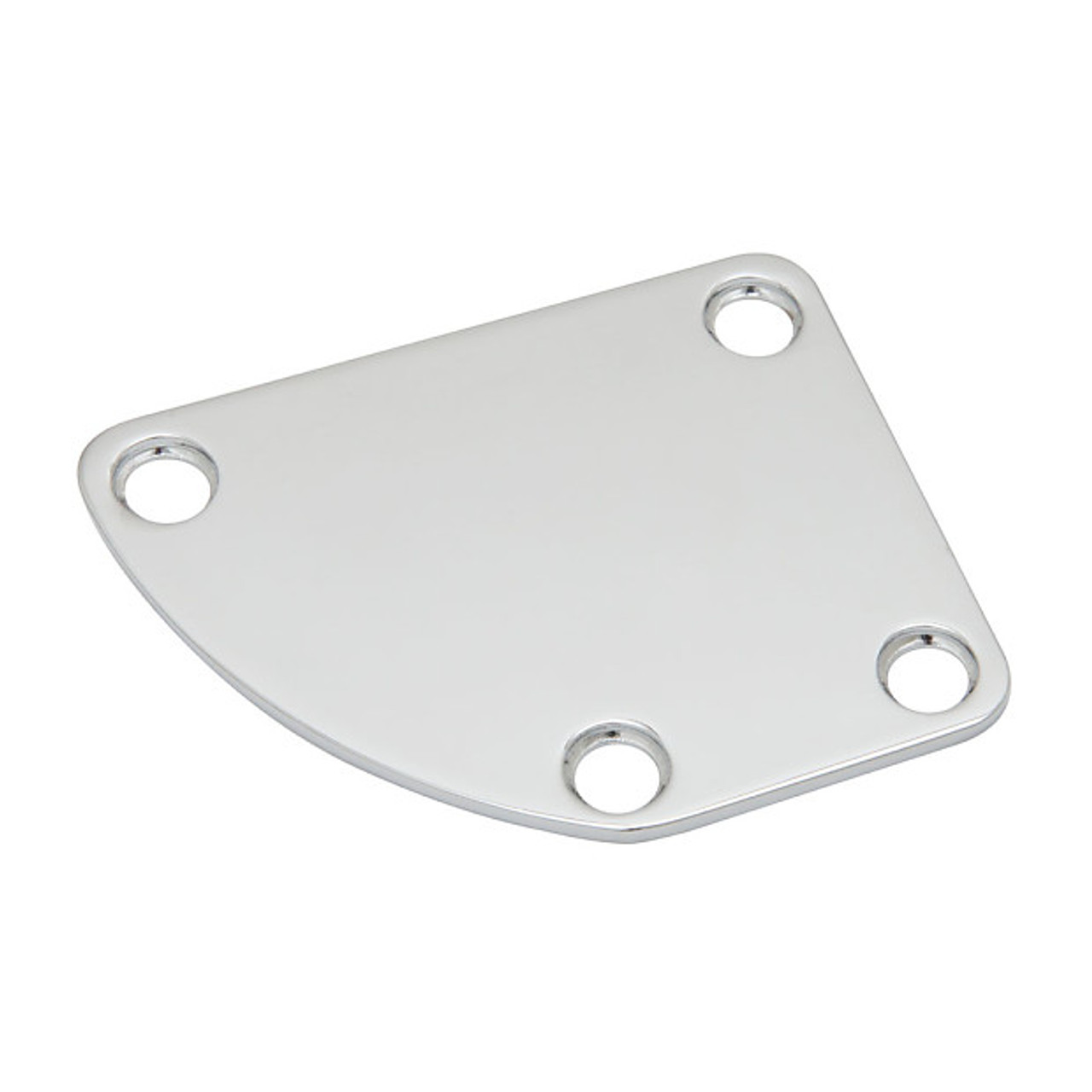 Curved Neck Plate - Chrome