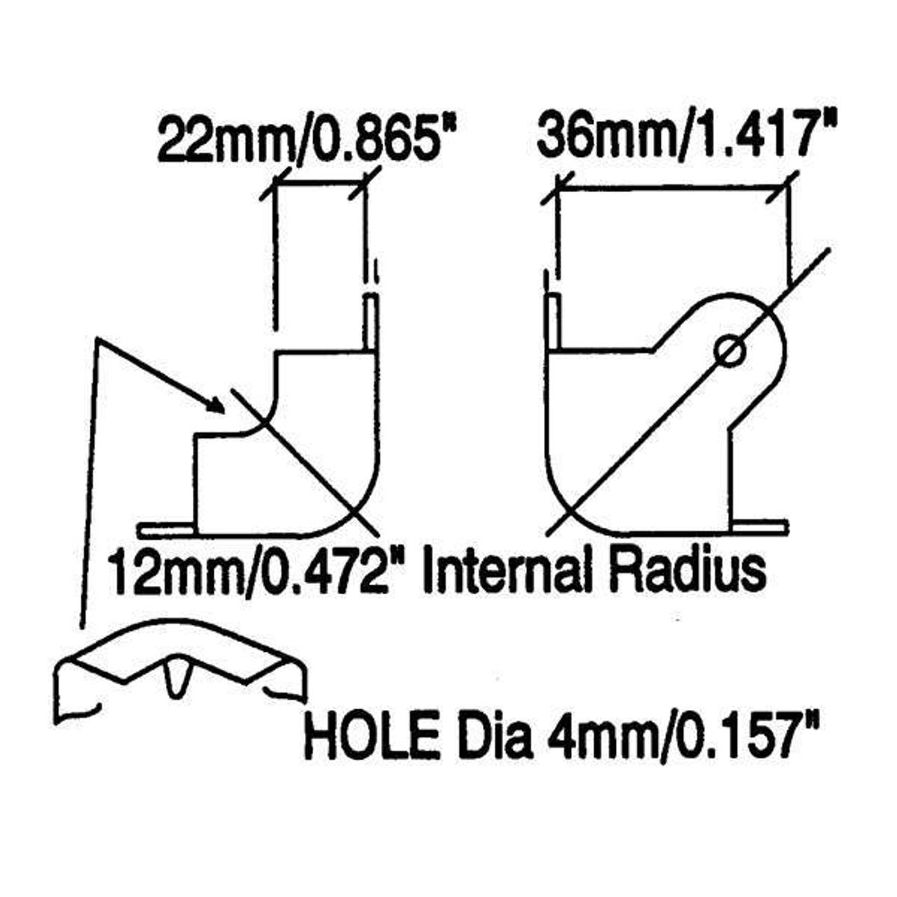 2-Leg Wraparound Corner - Nickel