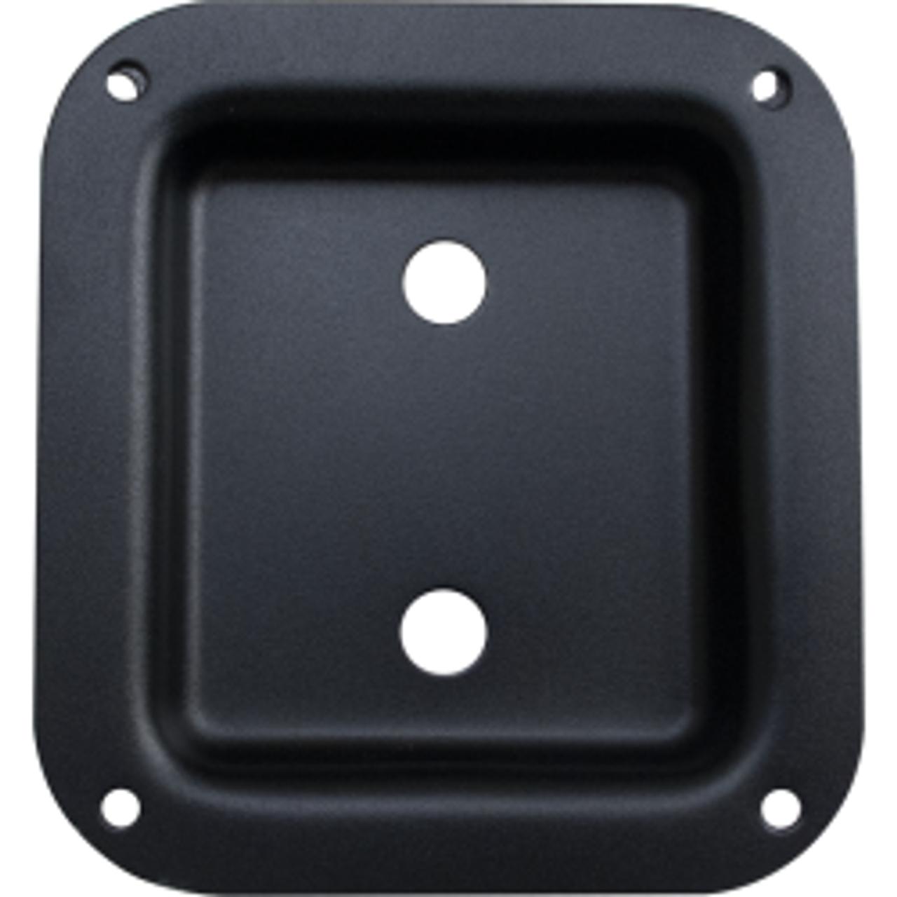"Jack Plate - Dual 1/4"" Square Black Metal"