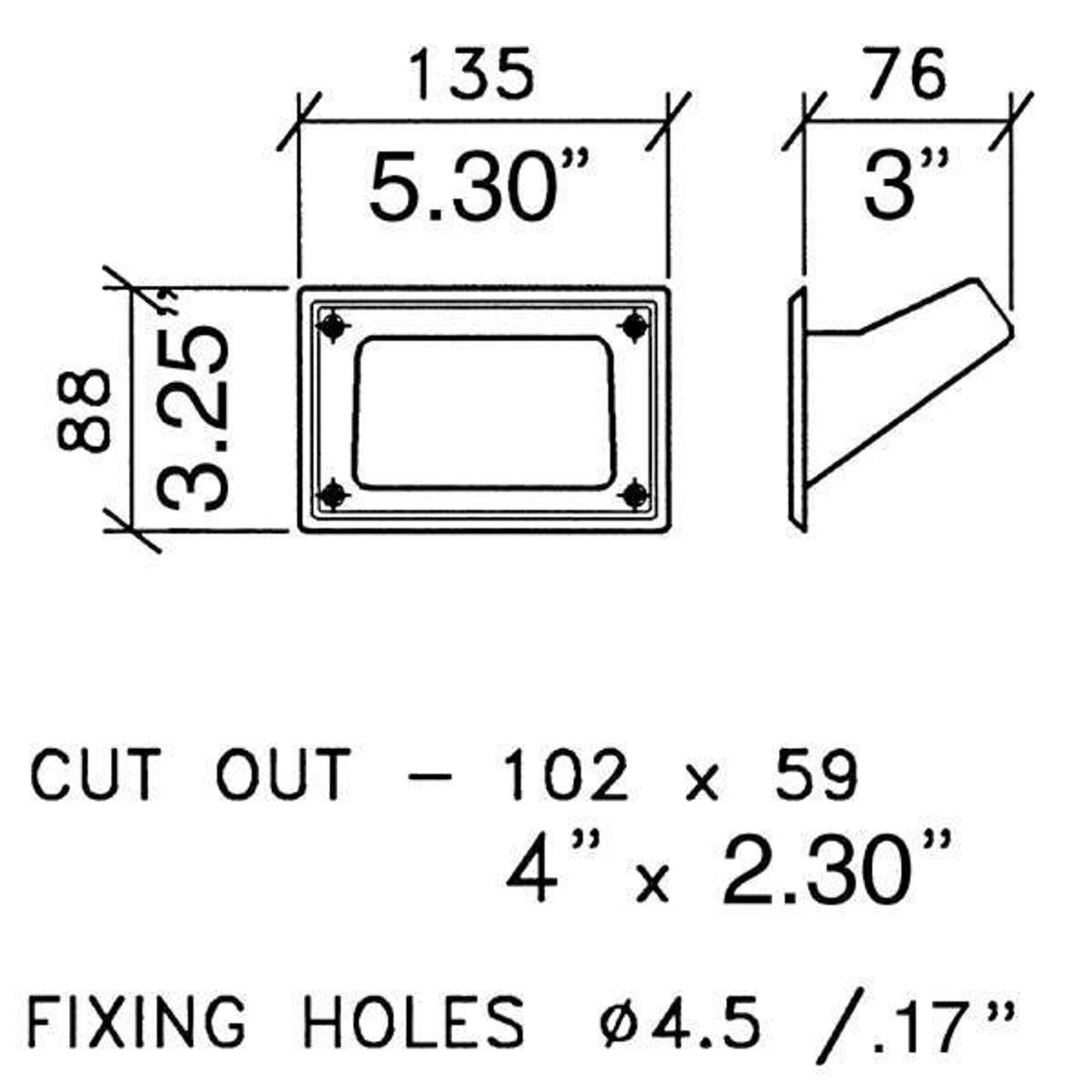 Recessed Black Plastic Pocket Handles (pair)