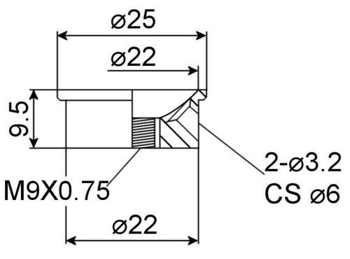 Jack Plate - Electrosocket Import Drawing