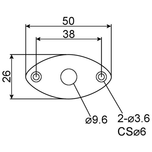 Jack Plate - Football Technical Drawing