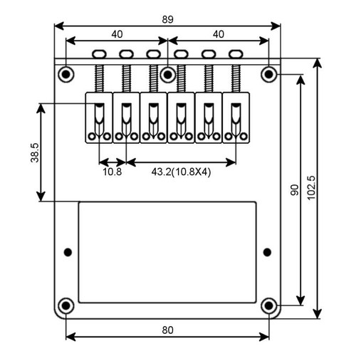 Telecaster Bridge Flat Modern Humbucker - Technical Drawing
