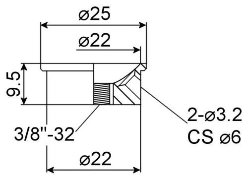Jack Plate - Electrosocket - Technical Drawing