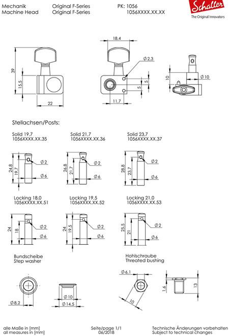 Schaller F-Series Tuners