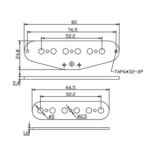Flatwork Set - Strat 52mm (top and bottom)