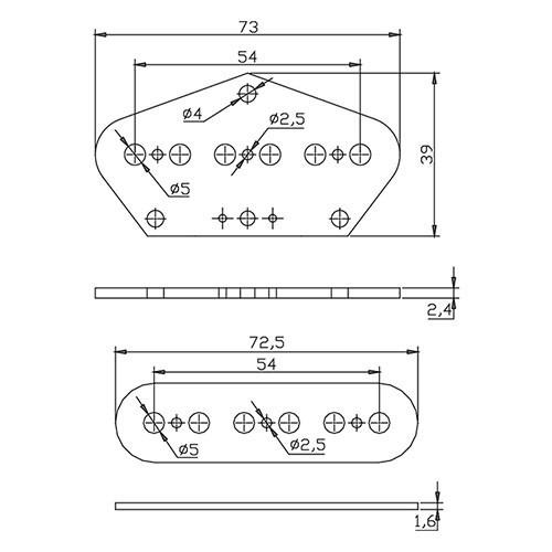 Flatwork Set - Tele 54mm (top and bottom)