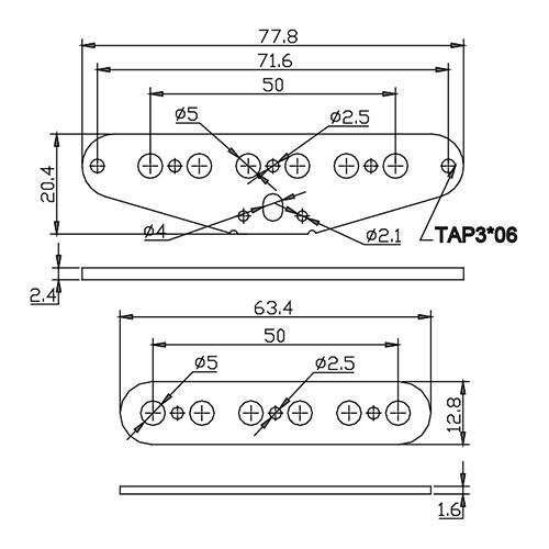 Flatwork Set - Tele 50mm (top and bottom)