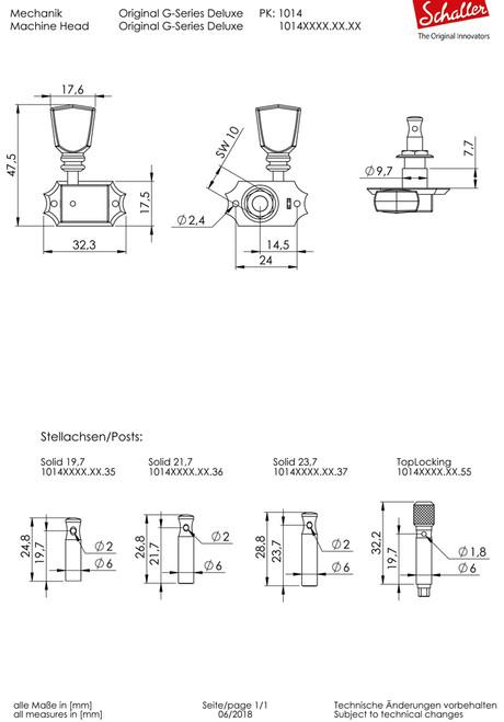 Schaller G-Series 3+3 Tuners