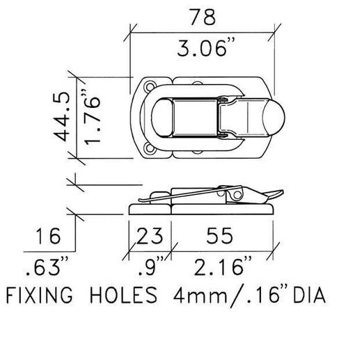 Draw Latch - Locking Nickel