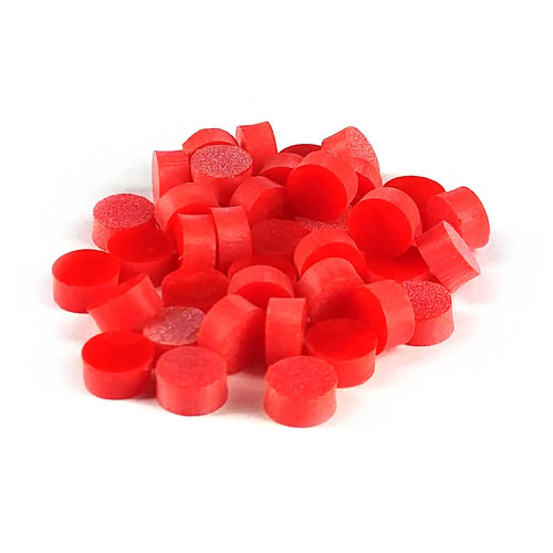 """Inlay Dots - 1/4"""" Red (pkg 50)"""