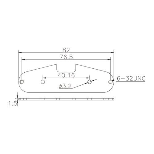 Pickup Baseplate - For Strat (nickel/silver)