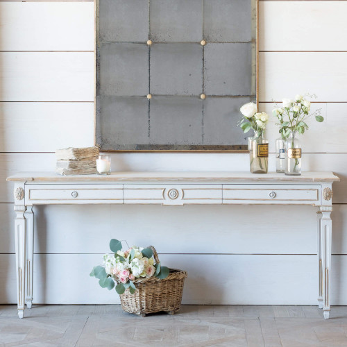 Eloquence® Herra Console in Potters Clay and Gold Finish