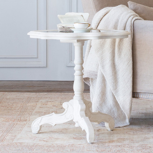 Eloquence® Petite Corsican Side Table in Rosette White