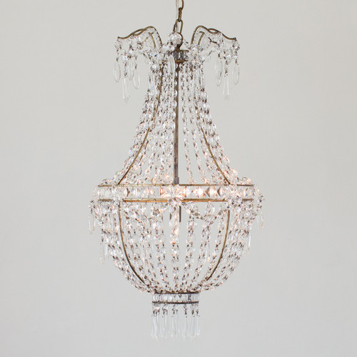 Eloquence® Rocca Chandelier in Burnished Iron Finish