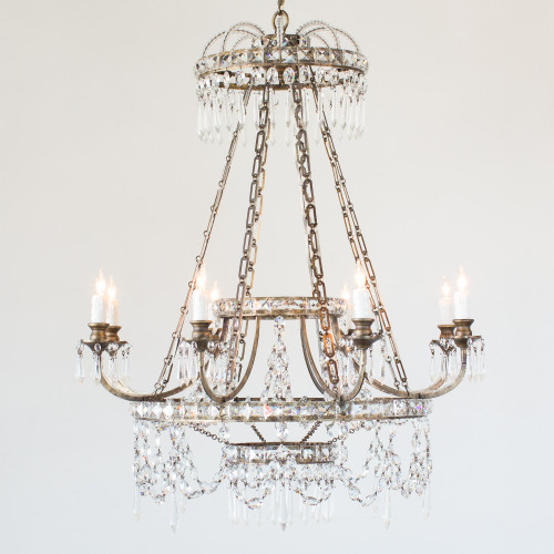 Eloquence® Astre Chandelier in Burnished Iron Finish Full View