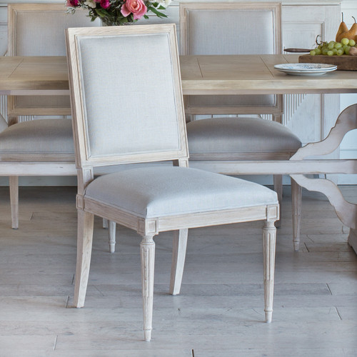 Eloquence® Francois Dining Chair in Storm Linen and Pebble Finish