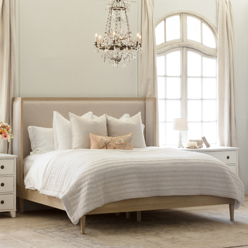 Eloquence® Cassia Bed in Storm Linen and Nordic Oak Finish
