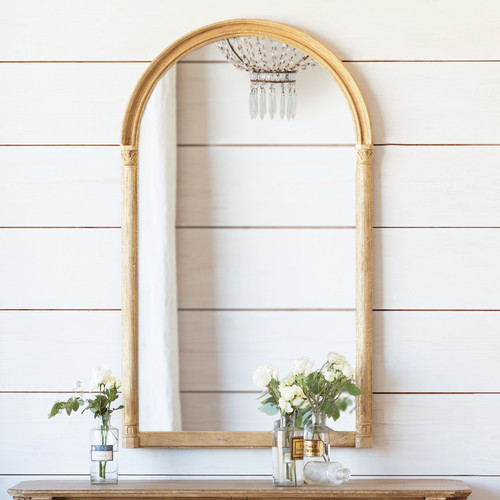 Eloquence® Renaissance Mirror in Gilt Oak Finish with Flowers