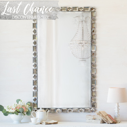Eloquence® Eternity Mirror in Tarnished Steel Finish