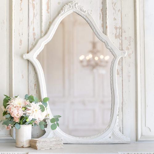 Whimsical Vintage White Vanity Mirror MVM76105