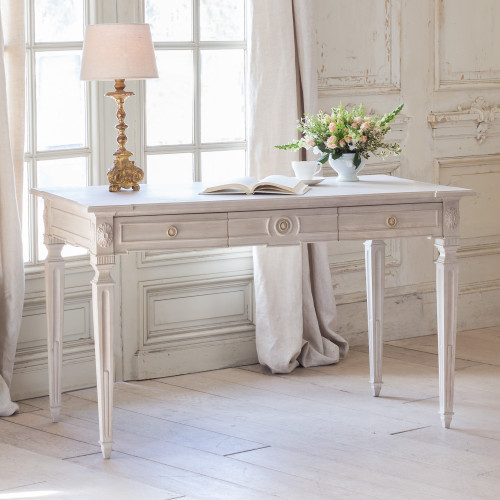 Eloquence® Herra Writing Desk in Glaze White Finish