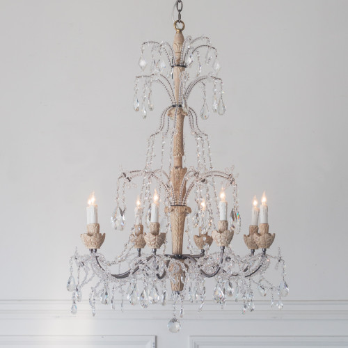 Eloquence® Genovese Chandelier in White Pepper Finish