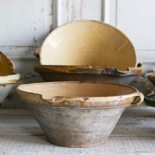 French Antique Terra Cotta Bowl OBVP18028