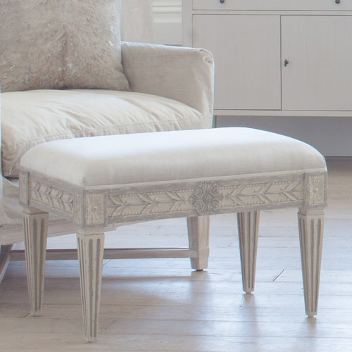 Eloquence® Anais Stool in Dove Velvet and Antique Grey Finish