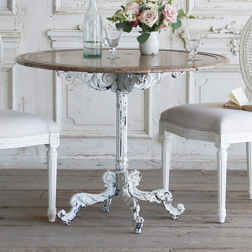 Vintage Garden Table with Marble TVN24015