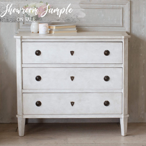 Eloquence® Nicolas Commode in Fleur De Sel White Finish (Showroom Sample)