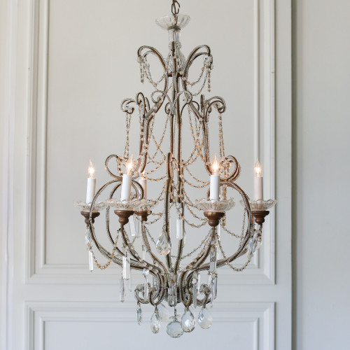 Vintage Pear-Shaped Chandelier with Crystals CHVP21060