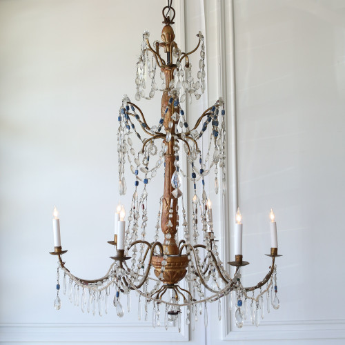 Antique Chandelier with Murano Beads CHVP21063