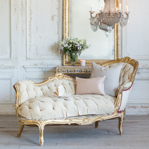 Antique Louis XV Gilt Chaise CVN25001