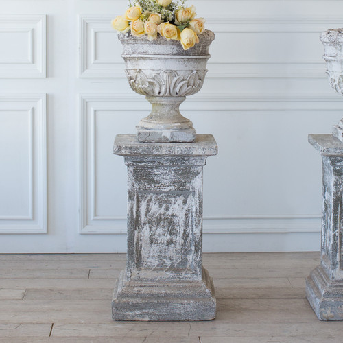 Pair of Vintage Urn Planters on Pedestals GDVN25064