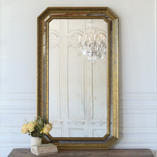Vintage Industrial Style Partitioned Mirror MVN25068