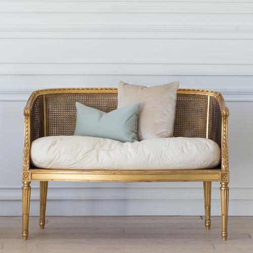 Antique Gilt Cane Sofa SVN25078
