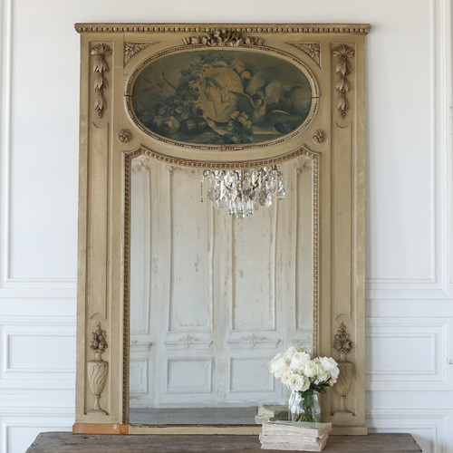 Antique Louis XVI Trumeau Mirror MVN25080